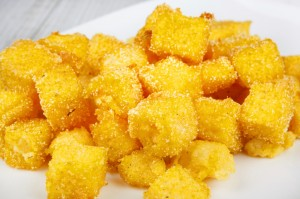 Cubetti di polenta fritti