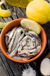 acciughe olio limone