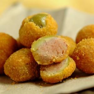 Olive ripiene fritte, all'ascolana