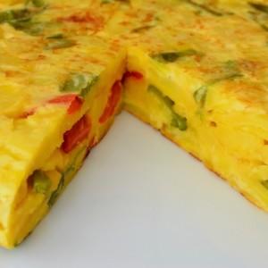 omelette ai peperoni
