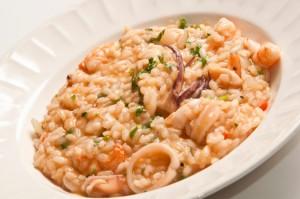risotto con calamaretti
