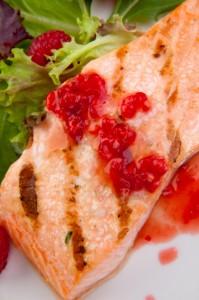 salmone salsa lamponi